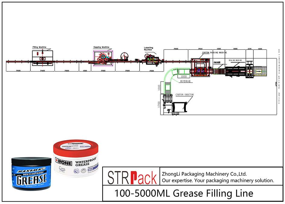 স্বয়ংক্রিয় 100ML-5L গ্রিজ ফিলিং লাইন