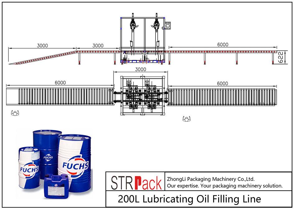 স্বয়ংক্রিয় 200L তৈলাক্তকরণ তেল ফিলিং লাইন