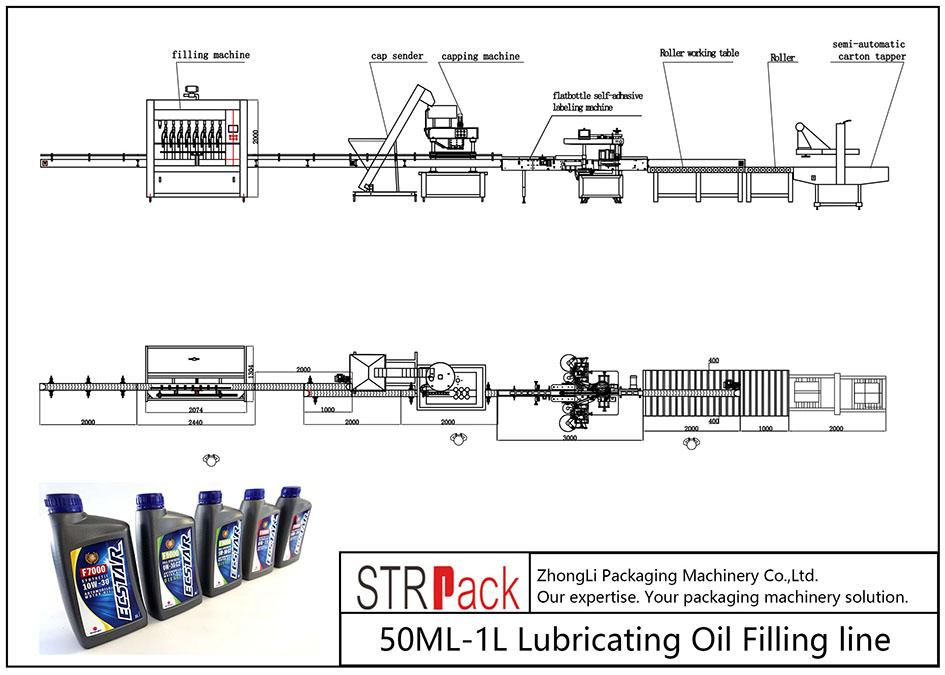 স্বয়ংক্রিয় 50ML-1L তৈলাক্তকরণ তেল ভর্তি লাইন