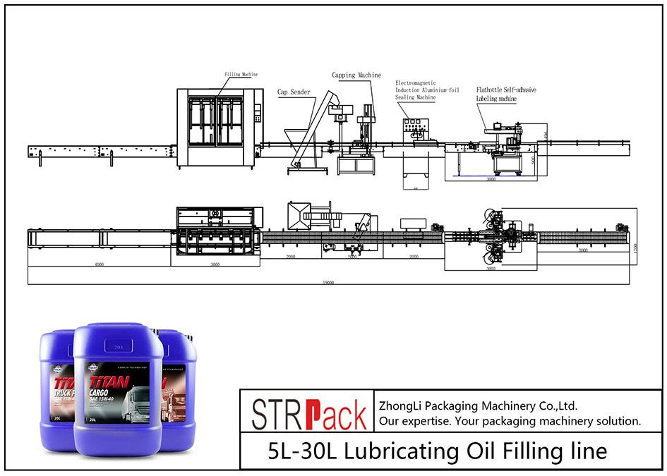 স্বয়ংক্রিয় 5L-30L তৈলাক্তকরণ তেল ভর্তি লাইন