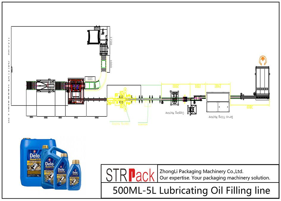 স্বয়ংক্রিয় 500ML-5L তৈলাক্তকরণ তেল ভর্তি লাইন